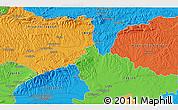 Political 3D Map of Dubrava