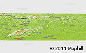 "Physical Panoramic Map of the area around 46° 1' 3"" N, 16° 13' 30"" E"