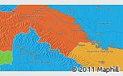 Political 3D Map of Peteranec