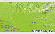 """Physical 3D Map of the area around 46°1'3""""N,17°55'29""""E"""