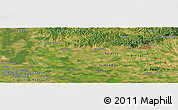 Satellite Panoramic Map of Vajszló