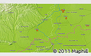 Physical 3D Map of Kneževo