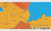 Political 3D Map of Kneževo