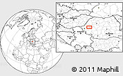 """Blank Location Map of the area around 46°1'3""""N,22°10'29""""E"""