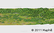"Satellite Panoramic Map of the area around 46°1'3""N,22°10'29""E"