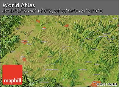 "Satellite Map of the Area around 46°1'3""N,23°52'30""E"