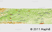 "Physical Panoramic Map of the area around 46° 1' 3"" N, 23° 52' 30"" E"