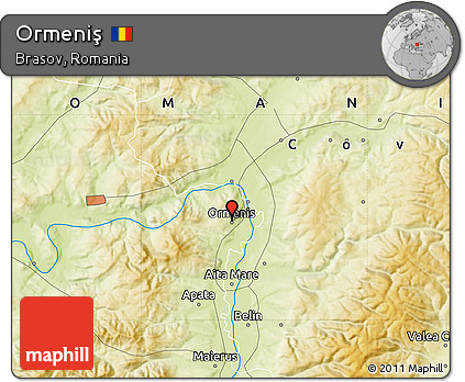Free Physical Map of Ormeni