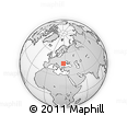 Outline Map of Lepșa, rectangular outline