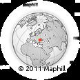 Outline Map of Gagauzia, rectangular outline