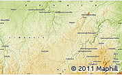 """Physical Map of the area around 46°1'3""""N,2°37'30""""E"""