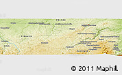 """Physical Panoramic Map of the area around 46°1'3""""N,2°37'30""""E"""