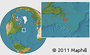 """Satellite Location Map of the area around 46°1'3""""N,52°37'30""""W"""