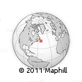 """Outline Map of the Area around 46° 1' 3"""" N, 52° 37' 30"""" W, rectangular outline"""
