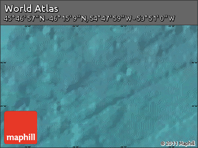 """Satellite Map of the Area around 46°1'3""""N,54°19'30""""W"""