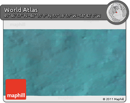 """Satellite 3D Map of the Area around 46°1'3""""N,55°10'29""""W"""