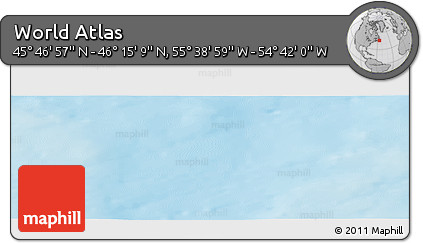 """Shaded Relief Panoramic Map of the Area around 46°1'3""""N,55°10'29""""W"""