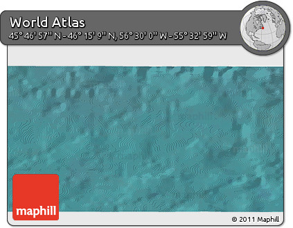 """Satellite 3D Map of the Area around 46°1'3""""N,56°1'29""""W"""