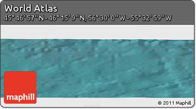 "Satellite Panoramic Map of the Area around 46°1'3""N,56°1'29""W"