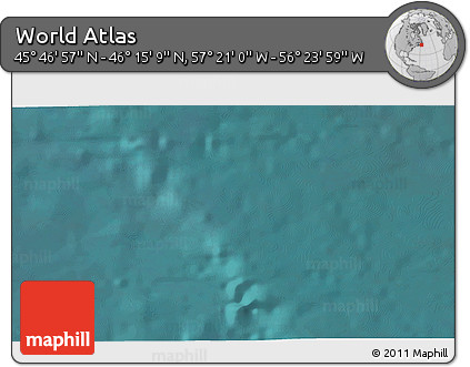 """Satellite 3D Map of the Area around 46°1'3""""N,56°52'30""""W"""