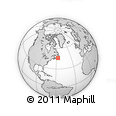 """Outline Map of the Area around 46° 1' 3"""" N, 56° 52' 30"""" W, rectangular outline"""