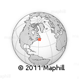 """Outline Map of the Area around 46° 1' 3"""" N, 57° 43' 30"""" W, rectangular outline"""