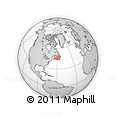 """Outline Map of the Area around 46° 1' 3"""" N, 58° 34' 30"""" W, rectangular outline"""