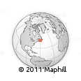 """Outline Map of the Area around 46° 1' 3"""" N, 59° 25' 29"""" W, rectangular outline"""