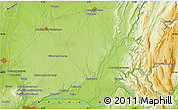 """Physical Map of the area around 46°1'3""""N,5°10'30""""E"""