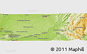 """Physical Panoramic Map of the area around 46°1'3""""N,5°10'30""""E"""