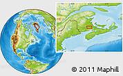 Physical Location Map of Petitcodiac