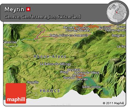 Free Satellite Panoramic Map of Meyrin