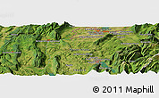 "Satellite Panoramic Map of the area around 46° 1' 3"" N, 6° 1' 30"" E"