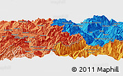 """Political Panoramic Map of the area around 46°1'3""""N,6°52'30""""E"""