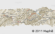 """Shaded Relief Panoramic Map of the area around 46°1'3""""N,6°52'30""""E"""