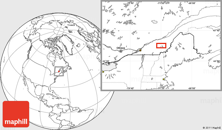 Blank Location Map of Thetford Mines
