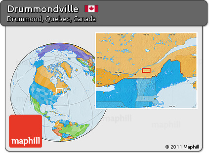 Free Political Location Map of Drummondville
