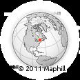 Outline Map of Val-David, rectangular outline