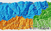 """Political 3D Map of the area around 46°1'3""""N,7°43'29""""E"""