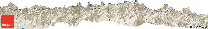 Shaded Relief Horizon Map of Alagna Valsesia