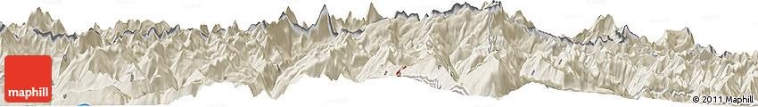 Shaded Relief Horizon Map of Zermatt
