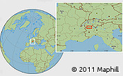 "Savanna Style Location Map of the area around 46°1'3""N,7°43'29""E"