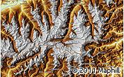 Physical Map of Zermatt