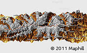 """Physical Panoramic Map of the area around 46°1'3""""N,7°43'29""""E"""