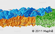 """Political Panoramic Map of the area around 46°1'3""""N,7°43'29""""E"""