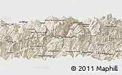 """Shaded Relief Panoramic Map of the area around 46°1'3""""N,7°43'29""""E"""
