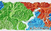Political 3D Map of Domodossola