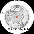 Outline Map of Haliun, rectangular outline