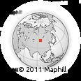 Outline Map of Bayan Buuraliin Hüryee, rectangular outline