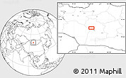 """Blank Location Map of the area around 46°1'3""""N,98°40'30""""E"""